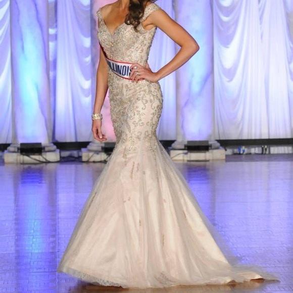 Mac Duggal Dresses & Skirts - Custom MacDuggal Champagne Gown